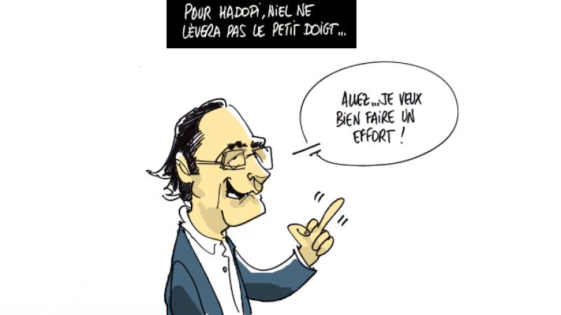 Clin d'oeil : Xavier Niel ou l'Hadopi au bout du doigt