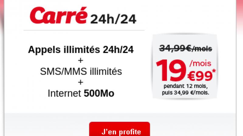 SFR aligne son offre illimitée sur le prix de Free…. seulement pendant 12 mois.