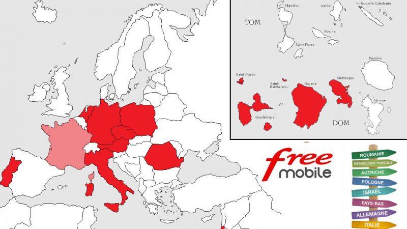 Roaming inclus chez Free Mobile : la carte des 12 destinations et le rappel des conditions d'utilisation