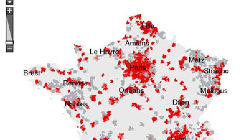 Nouvelle carte du dégroupage sur Free.fr