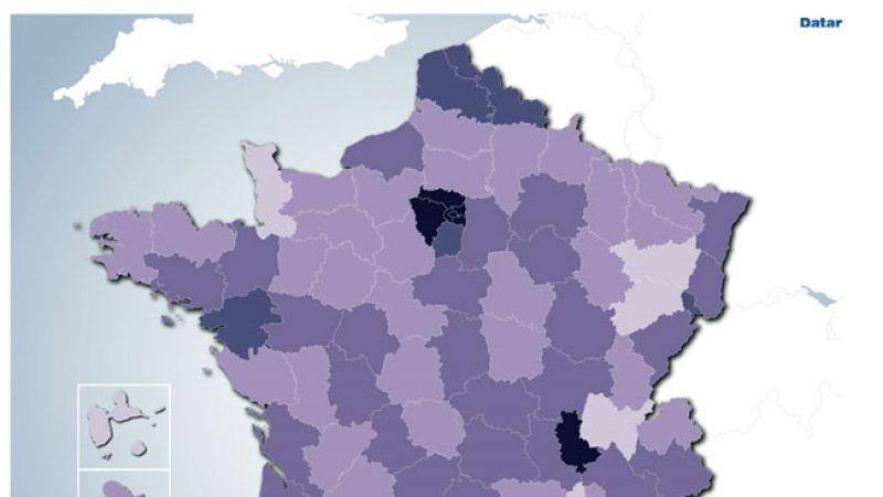 La carte de déploiement de la fibre en France