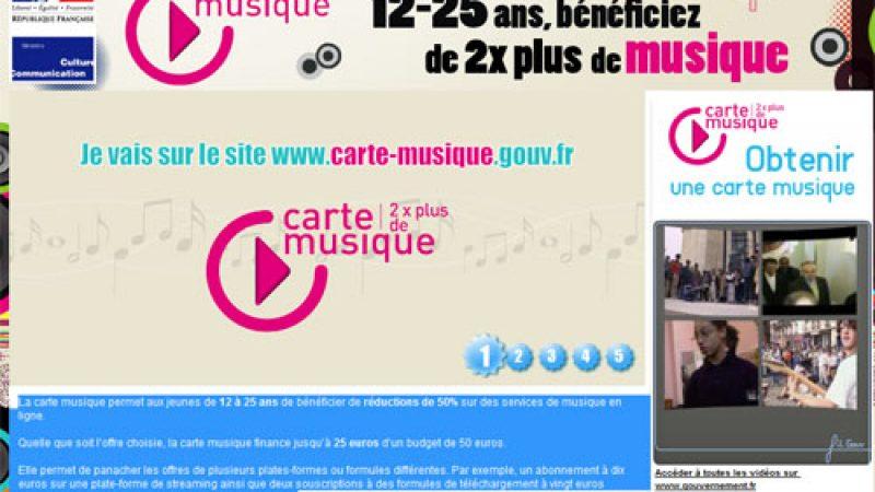 Lancement de la carte musique jeunes