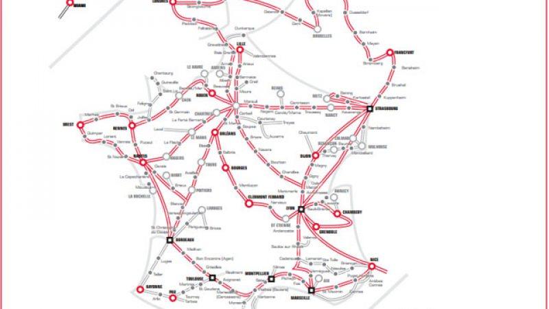 Découvrez la carte du réseau longue distance de Free qui s'est agrandi de 8 000 km en 2013