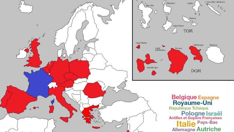 Découvrez la carte des pays inclus en roaming dans le forfait mobile Free