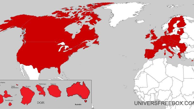 Free Mobile : Découvrez la carte du monde, mise à jour, des pays inclus en roaming