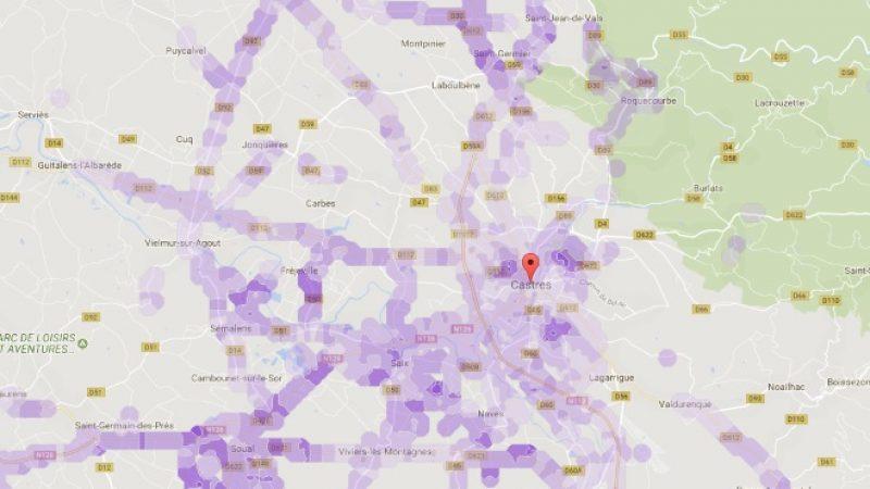Couverture et débit 4G Free Mobile : Focus sur Castres