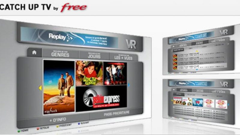 La catch-up TV se développe à grande vitesse sur Freebox TV
