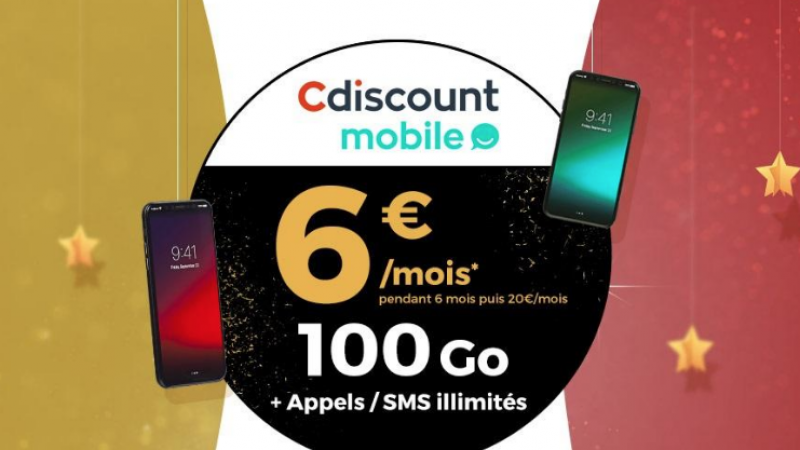 """Cdiscount lance un forfait 100Go """"série limitée"""" à 6€/mois"""