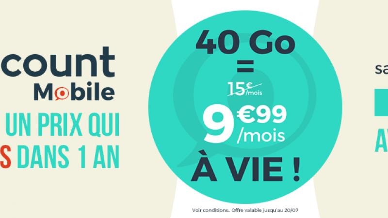 Cdiscount Mobile dégaine une offre 40 Go à 9,99€/mois à vie