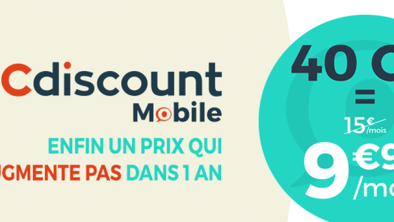 Cdiscount Mobile : un forfait 40 Go à 9,99€/mois à vie pour célébrer les 20 ans du leader français de l'e-commerce