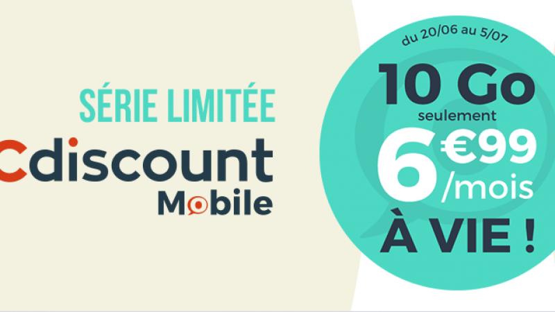 Cdiscount Mobile lance une nouvelle série limitée à vie