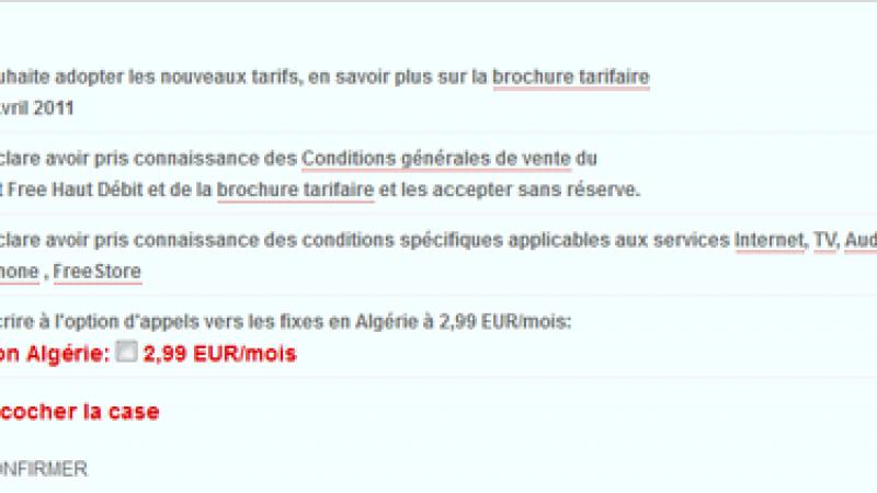Free modifie l'intitulé de ses nouvelles CGV (Algérie)