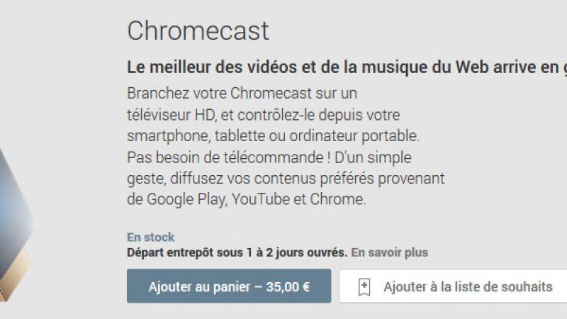 Google sort sa clef HDMI Chromecast