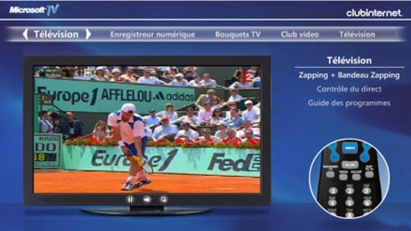 La télévision de Club Internet en image et avec disque dur !