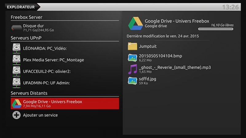 Accédez à vos contenus stockés dans le Cloud depuis la Freebox Révolution