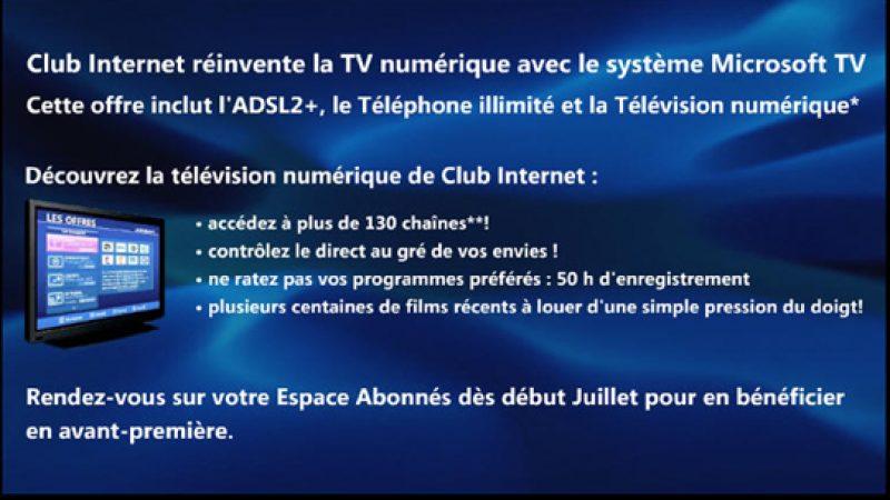 Club Internet veut réinventer la TV par ADSL