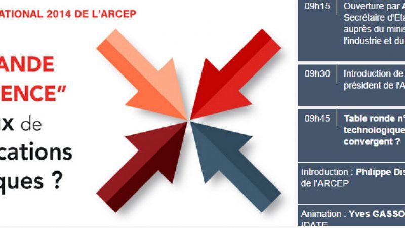Suivez le colloque de l'ARCEP en direct jeudi, avec, entre autre, Maxime Lombardini