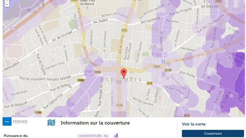 Couverture et débit 4G Free Mobile : Focus sur Colombes