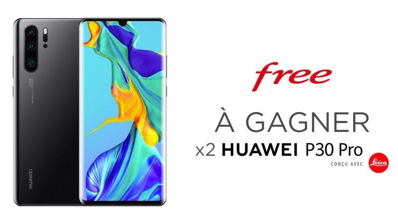 Free propose un nouveau concours et fait gagner deux Huawei P30 Pro