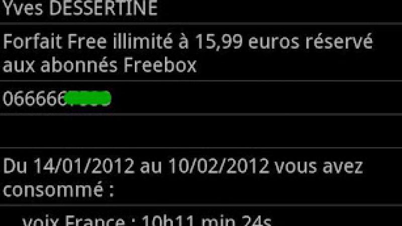 « Suivi conso Free Mobile » : l'application Android pour suivre sa consommation