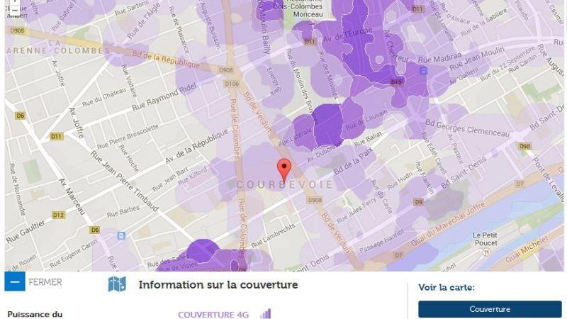 Couverture et débit 4G Free Mobile : Focus sur Courbevoie