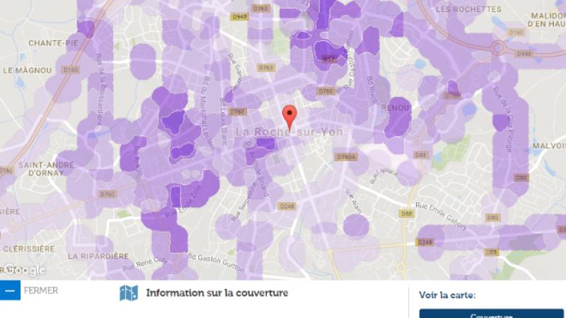 Couverture et débit 4G Free Mobile : Focus sur La Roche-Sur-Yon