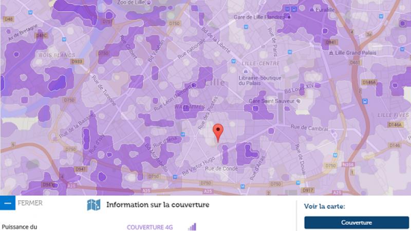 Couverture et débit 4G Free Mobile : Focus sur Lille