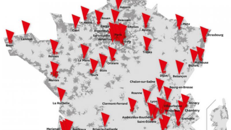 SFR ou le chassé-croisé des villes couvertes en 4G. Certaines apparaissent, d'autres disparaissent