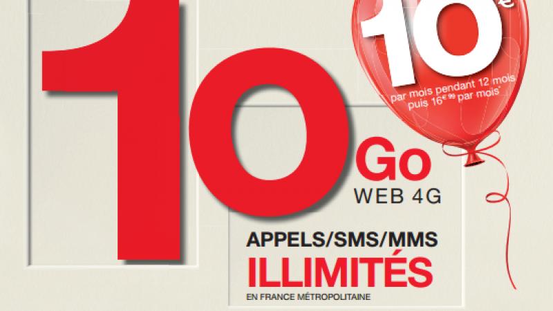 Pour ses 10 ans EI Télécom (NRJ Mobile, Crédit Mutuel Mobile, etc.) lance un forfait anniversaire avec 10Go