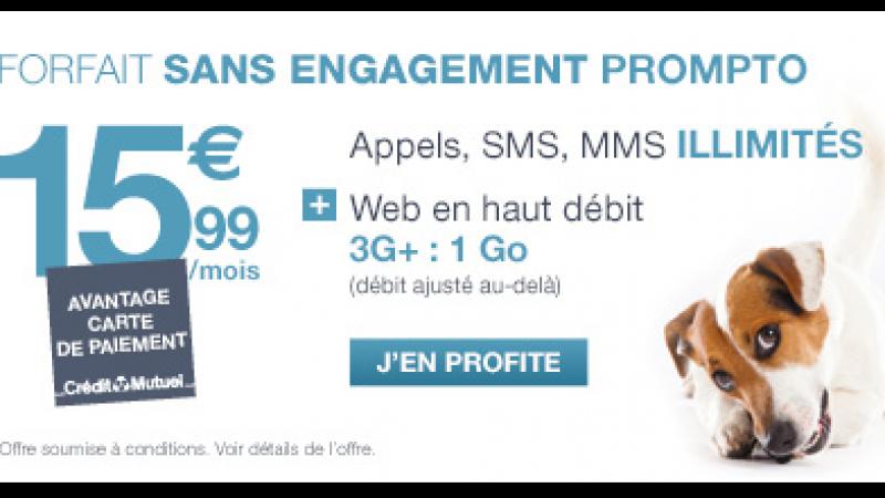 Le Crédit Mutuel s'attaque frontalement au forfait illimité de Free Mobile