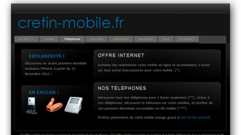 Insolite: Crétin.fr disponible aussi dans le mobile