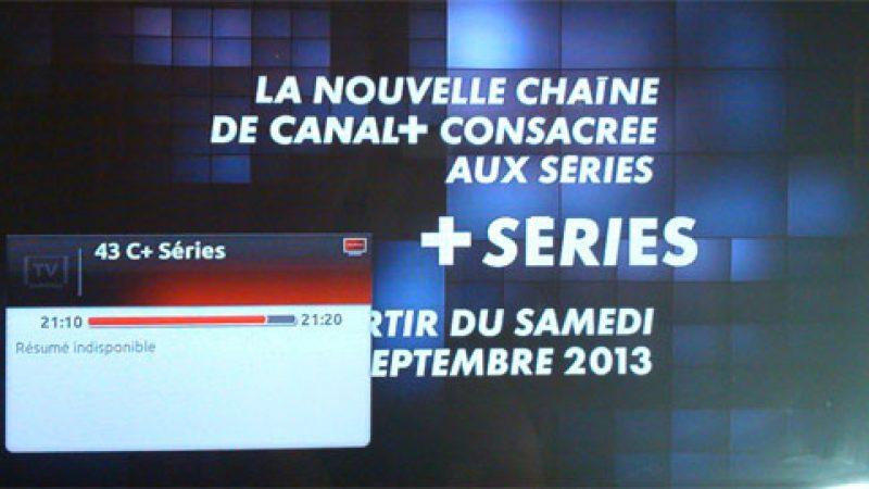Freebox TV intègre la nouvelle chaîne Canal+ Séries