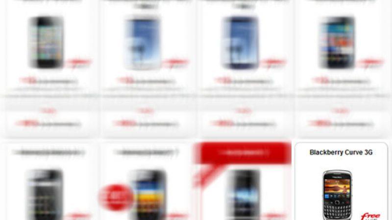 Le Blackberry Curve 3G n'est plus proposé par Free Mobile