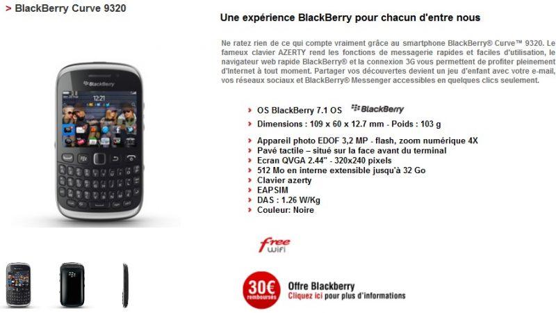 Free Mobile : trois offres de remboursement Samsung et Blackberry