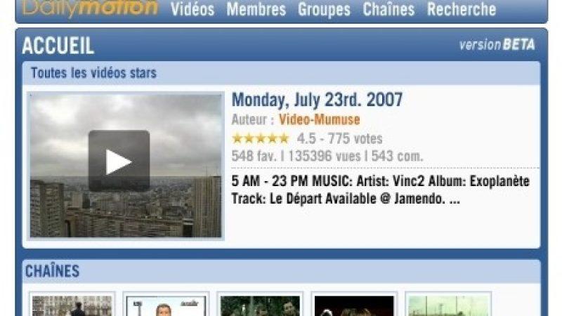 Dailymotion bientôt sur la Freebox ?