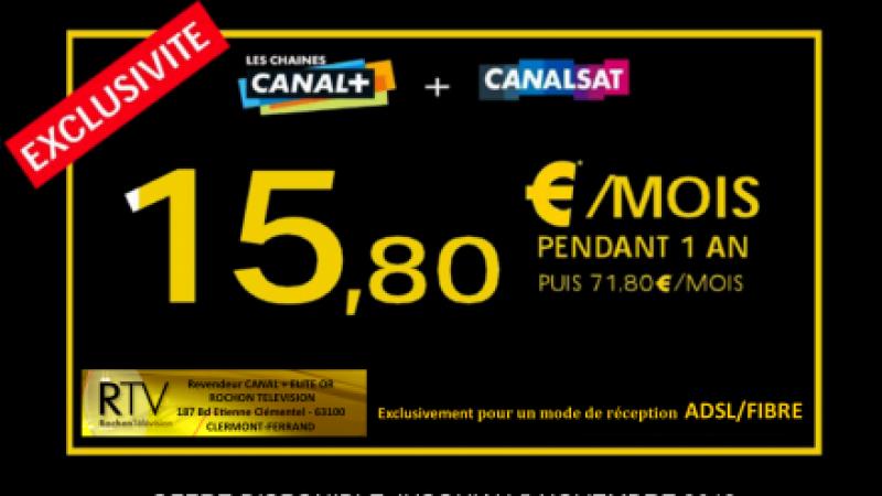 Une offre exceptionnelle Canalsat + Canal+ à 15,80€/mois disponible chez Free et Alice