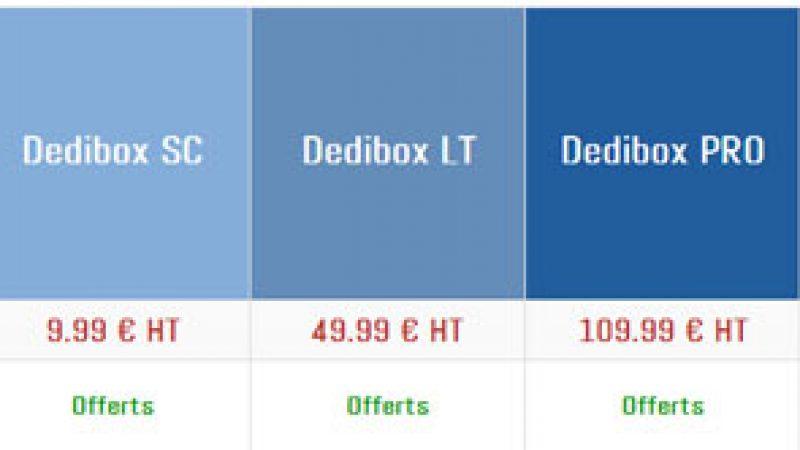 Online/Free renouvelle sa gamme Dedibox avec une offre à partir de 9,99€