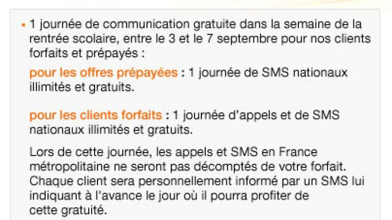 Orange ne propose pas de compensation avant septembre car il souhaite faire des tests préalables sur son réseau