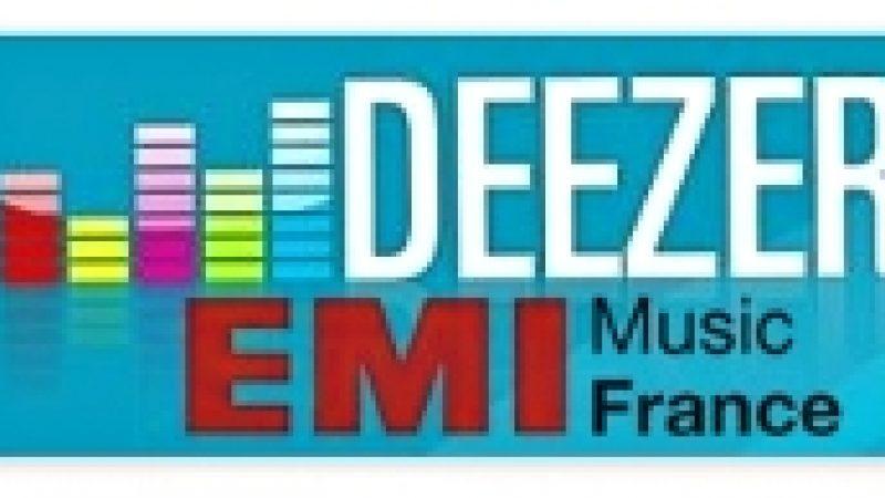 Deezer signe avec EMI Music