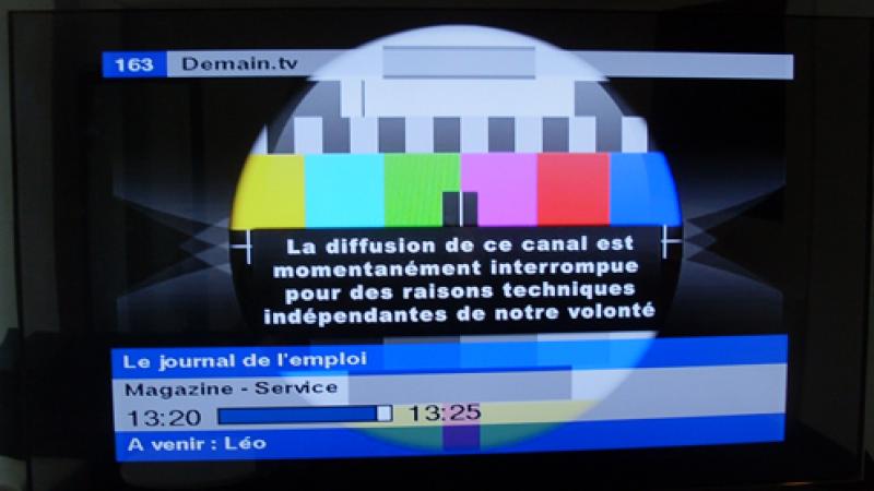 Demain TV : Diffusion interrompue et redressement judiciaire