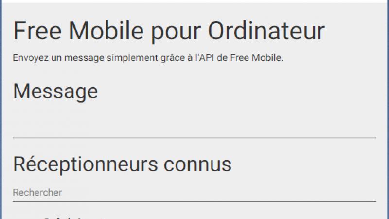 Une nouvelle application pour utiliser l'API de Free Mobile