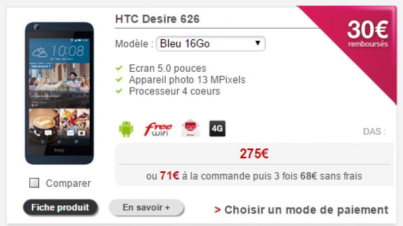 Free Mobile : une coque offerte pour le Motorola et une nouvelle ODR pour le HTC