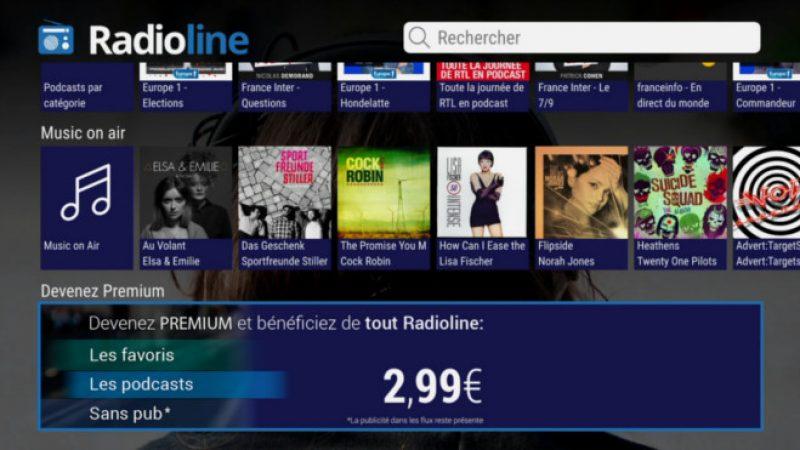 Freebox Révolution : L'application Radioline lance une version premium avec une nouvelle fonction