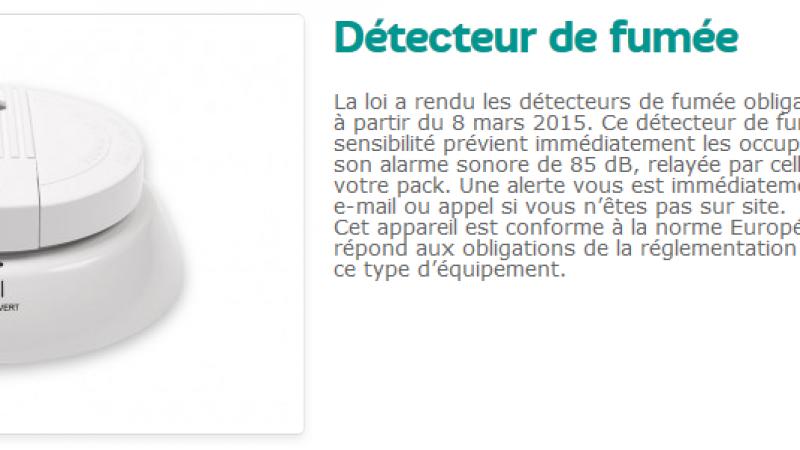SFR ajoute un détecteur de fumée à son offre Home