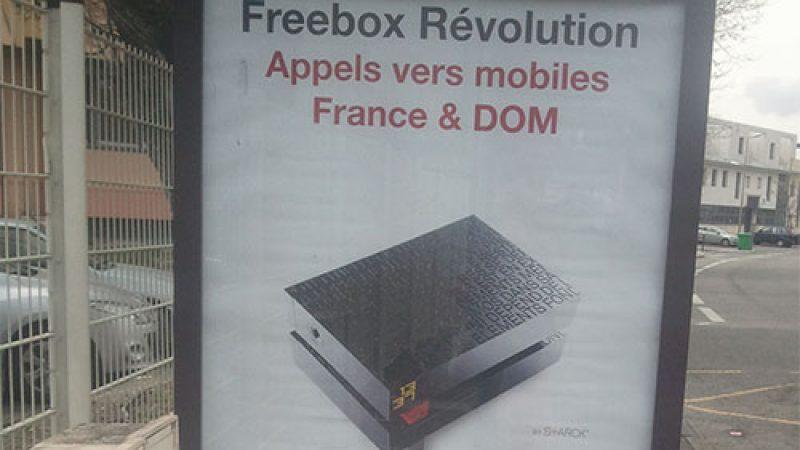 Free fait de la publicité pour les appels illimités vers les mobiles des DOM