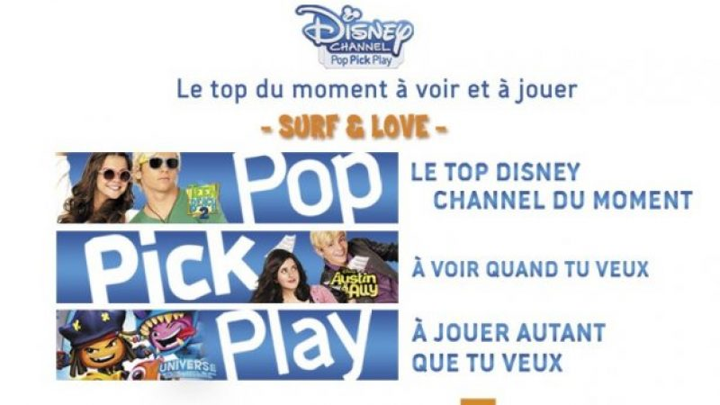 Disney Channel lance un nouveau service de VOD, uniquement disponible chez Orange