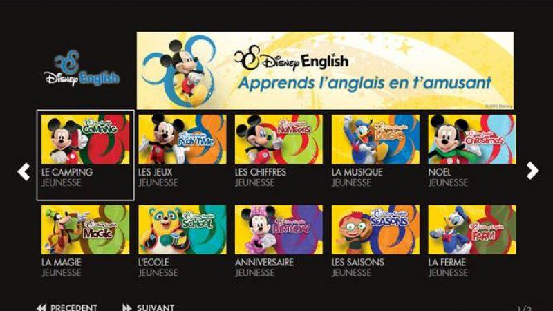 Canalsat lance le service Disney English, pour apprendre l'anglais aux enfants