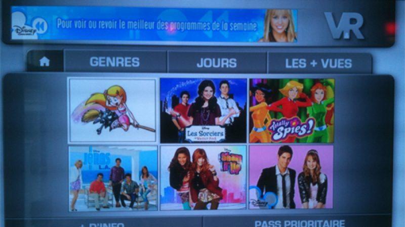 Freebox Replay : Lancement des 2 services de catch-up Tv de Disney