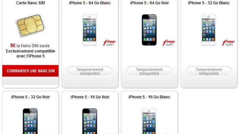 Des iPhone 5 de nouveau disponibles à l'achat chez Free Mobile !