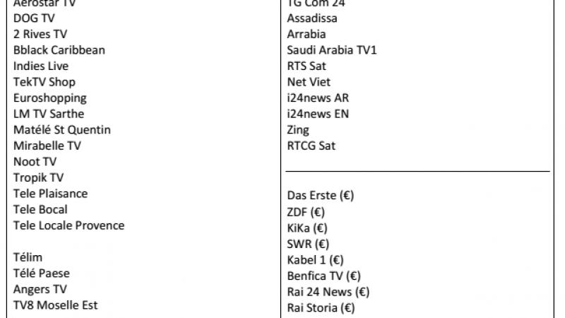 Découvrez la liste des chaînes françaises et étrangères qui pourraient arriver sur Freebox TV